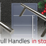 In stock Blu pull handles
