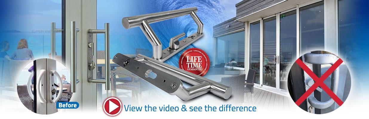 blu KM900 patio sliding door handle range